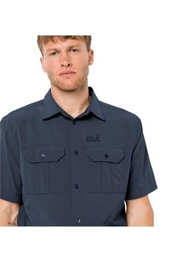 Jack Wolfskin Kwando River Shirt Erkek Gömlek - 1403181-1010 Lacivert